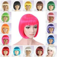 15% Off Cosplay Bob Wig Women Short Straight Hair Carnival Anime Party Full Wigs