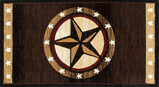 Star Hearth Rug | Fire Resistant Rugs | Western Rug | Cowboy Fireplace Rugs