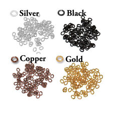 100 Pack - Small Oval Open Jump Rings - 20 GA - 2 x 3mm ID - plated brass