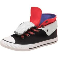 Converse Junior Girls CT All Star Two Fold Diva Hi Black/Pink BRAND NEW BOXED