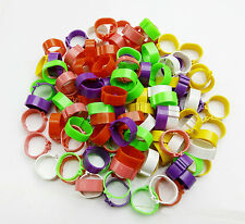 100PCS Poultry Leg Bands Bird Chicks Ducks Clip-on Rings 6 Colors
