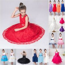 New Kid Girl Princess Dress Party Pageant Wedding Bridesmaid Flower Tutu Dresses