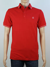 NEW Duck & Cover Mens Size S Red Short Sleeve Polo Shirt Top