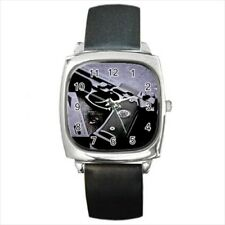 M9 Beretta Pistol Round & Square Leather Strap Watch
