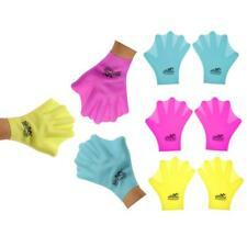 1 Pair Swimming Webbed Gloves Silicone Finger Hand Paddle for Adults Children