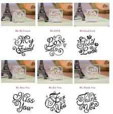 Crystal Square Thank You/ Love/ Good Luck Greeting Word Stamp