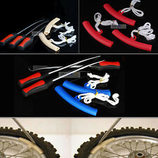 3x Tire Lever Tool Spoon Motorcycle Bike Tire Iron Change w/Wheel Rim Protectors