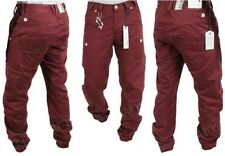 New Boys ETO Chinos Cuffed Ankle Pants Jeans Maroon Kids Sale Waist Size 24-28