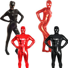 Unisex Latex Rubber Catsuit Full Body Suit PVC Wetlook Leather Clubwear Costume