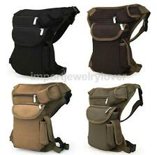 Canvas Drop Waist Leg Bag Motorcycle Rider Belt Waist Fanny Pack Bags