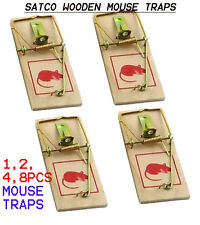 Wooden Mouse Traps Reusable Bait Mice Vermin Trap Rodent Pest Control Mousetrap