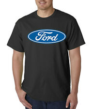 Ford Motors Vehicles Cars Racing Logo Classic Blue Oval T-Shirt S-5XL