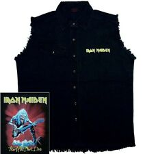 Iron Maiden Fear Of The Dark Live Official Black Sleeveless Work Shirt M L XL