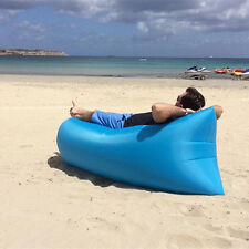 Portable Inflatable Air Bed Sofa Outdoor Beach Camping Sleeping Lazy Bag 5Colors