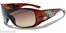 DG Eyewear Fashion Women's Sunglasses 100% UV400 Plastic Frame With Rhinestones