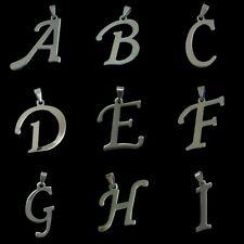 Stainless Steel Letter A B C D E F to Z Alphabet Initials Charm Pendant Necklace