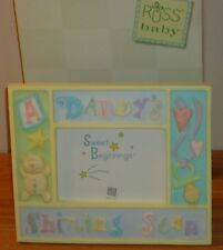 "Russ BABY/CHILD ""Daddy's Shining Star"" Picture Photo Frame w/Box 5"" x 3.5"" photo"