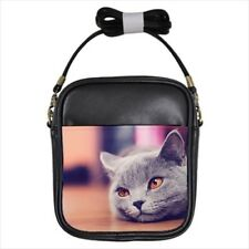 Korat Leather Sling Bag & Women's Handbag - Cat Kitten