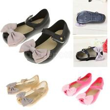 Child Beach Sandals Bow Kids Toddler Baby Girls Jelly Shoes Footwear Rain Boots