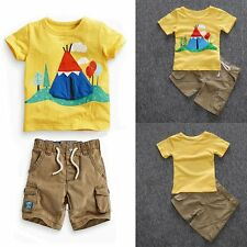 Outfit New Summer 2PCS Toddler Baby Boys Short Sleeve T-shirt+Shorts Clothes Set