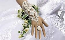Women Lace Ivory Bridal Gloves Formal Wedding Prom Party Fingerless Gloves 1Pcs