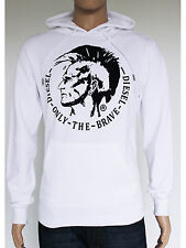NEW Diesel Mens Size S M L White Pullover Hoodie