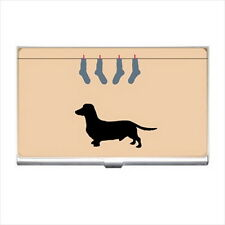 NEW Cigarette Credit Business Card Holder Funny Daschshund Owner
