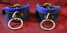 Two piece suede leather ankle cuffs set (bondage rings)