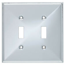 Brainerd Beverly 2-Gang Polished Chrome Standard Toggle Switch Wall Plate