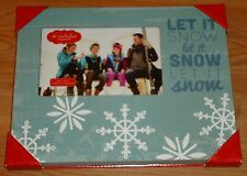 LET IT SNOW Photo Picture Frame NEW Winter Christmas fits 4 x 6 photo