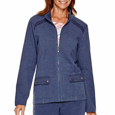Alfred Dunner Cape Hatteras Long-Sleeve Zip-Front Jacket Size 6P, 22W New