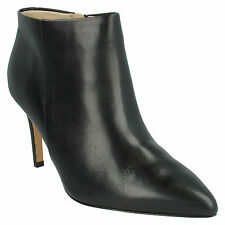 DINAH PIXIE LADIES CLARKS POINTED TOE ZIP UP STILETTO HEELED ANKLE BOOTS SHOES