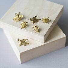 Bug Pins In Atique Gold
