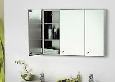 Stainless steel Modern Storage Mirror Shelves Cabinet Wall Mounted For Bathroom