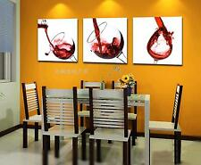 Original Oil Painting HD Print Wall Decor Art on Canvas,Wine 3PCS (Unframed)