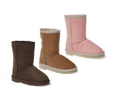 New Ozwear UGG Kids Sheepskin Classic Long Boots Chestnut Choc Pink  Hibiscus