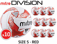 10 x MITRE DIVISION - MALMO TRAINING FOOTBALLS - WHITE SIZES 3, 4 & 5