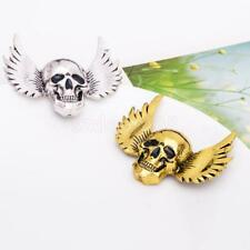 Gothic Brooch Halloween Angle Wings Skull Silver/Gold Plated Vintage Lapel Pin