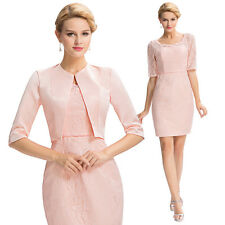 Women Formal Occasion Outfit/Suit Mother Of The Bride/Groom Dress Free Jacket