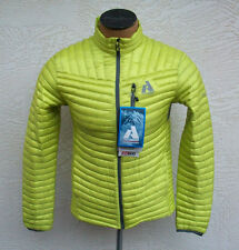 Eddie Bauer First Ascent Mens Microtherm Down Shirt Limeade Yellow Jacket NWT