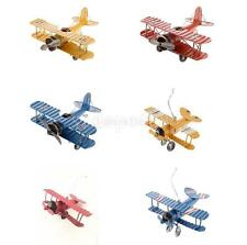 Metal Aircraft Model Airplane Biplane Toy Home Office Cafe Decor Collectibles