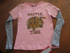 NWT CITY THREADS GIRLS LONG SLEEVE LAYERED SLEEVES TEE SIZE 6 OR 7