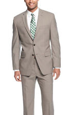 Calvin Klein Extreme X Slim Fit Light Gray Mini Check Two Button Wool Suit