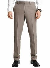 ELIE TAHARI Mens Taupe Cotton & Linen Pants Flat Front Great For Summer $178