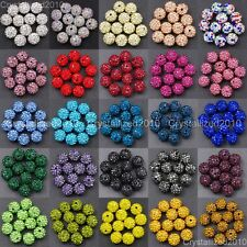 20Pcs Premium Czech Crystal Rhinestones Pave Clay Round Disco Ball Spacer Beads