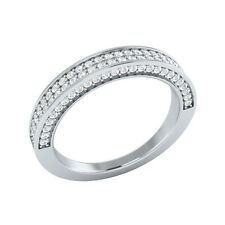 0.52 ct Natural Certified Diamond Solid Gold Half Eternity Wedding Band Ring