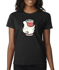 Mickey Mouse Hand Beer Alcohol Drinking Drunk illest Ladies T-Shirt S-2XL