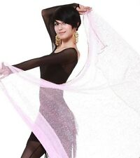 "Exotic Belly Dance Dancing Chiffon Veil Colored Scarf Prop 48""x96"" Pink"