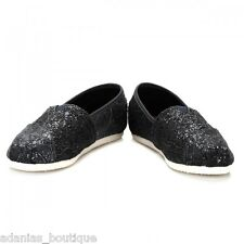 TOMS PEWTER CROCHET GLITTER WOMEN'S CLASSICS SHOES. STYLE # 10006913