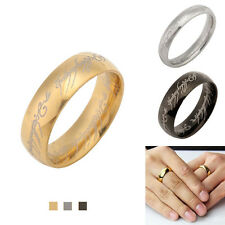 Fashion The One Ring LOTR Titanium Steel Wedding Aragon Ring Lord of the Rings